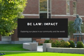 BC Law Launches 'Impact,' New Student Blog