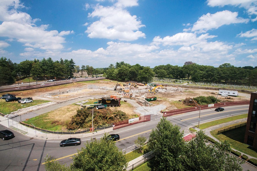 The former More Hall site being prepared for the construction of the new dorm planned.