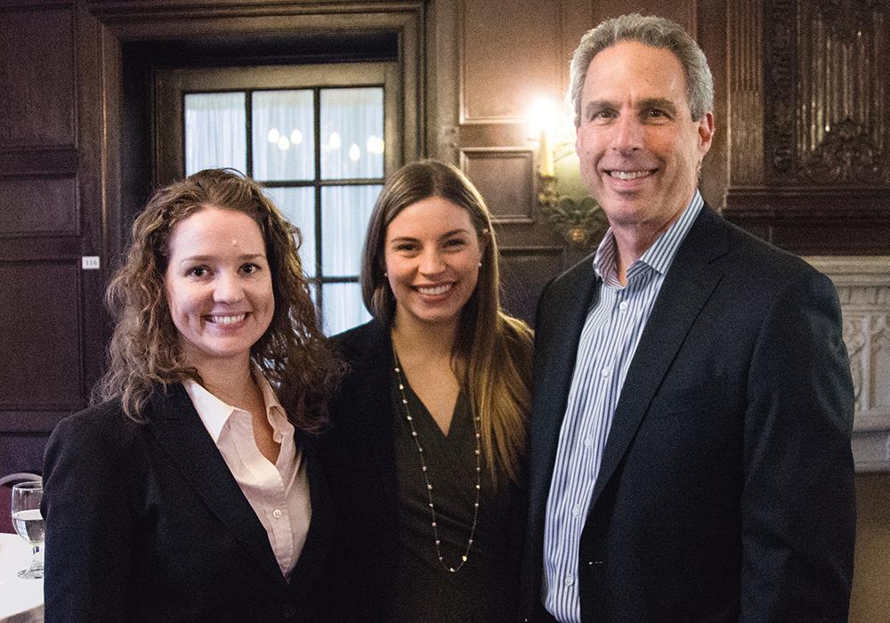 Collette Irving, Lainey Sullivan, and David Weinstein