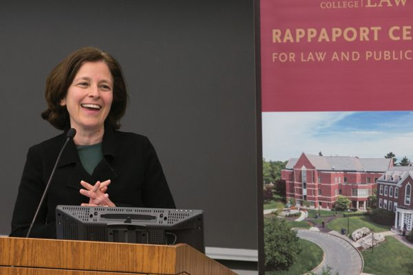 Photo/Reba Saldanha  Rapport Center at Boston College Law School conference on the student debt crisis Friday March 18, 2016