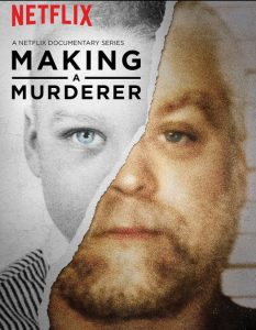 A poster from the Netflix series on Steven Avery.