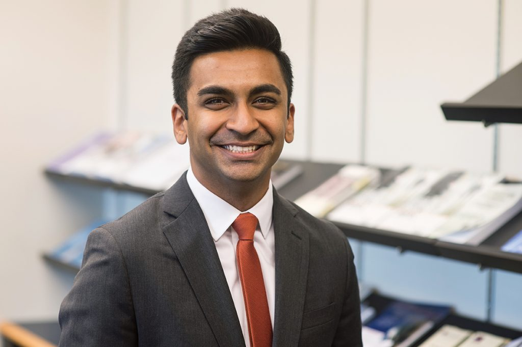 Zain Ahmad '17, who interned in the White House Office of Science and Technology Policy, says the people he has worked with are incredibly knowledgeable and helpful. Though Ahmad has a post-grad position lined up with Goodwin Procter in New York City, he used his BC in DC opportunity to dive into his tech interests.