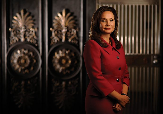 WASHINGTON, DC - AUGUST 30:  Treasurer of the United States, Rosa G. Rios poses for a portrait within the U.S. Treasury Building on Thursday August 30, 2012 in Washington, DC.  (Photo by Matt McClain for The Washington Post via Getty Images)