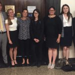 Professor Charlotte Whitmore and BCIP students at Suffolk Superior Court yesterday for the release of Fred Clay. L to R: Rufus Urion '17 Brooke Hartley '18 Professor Whitmore Gal Yurmin-Nir, LLM '17 Eva Rasho '18 Kelly Collins '19 Madeline Werner, BC class of '20
