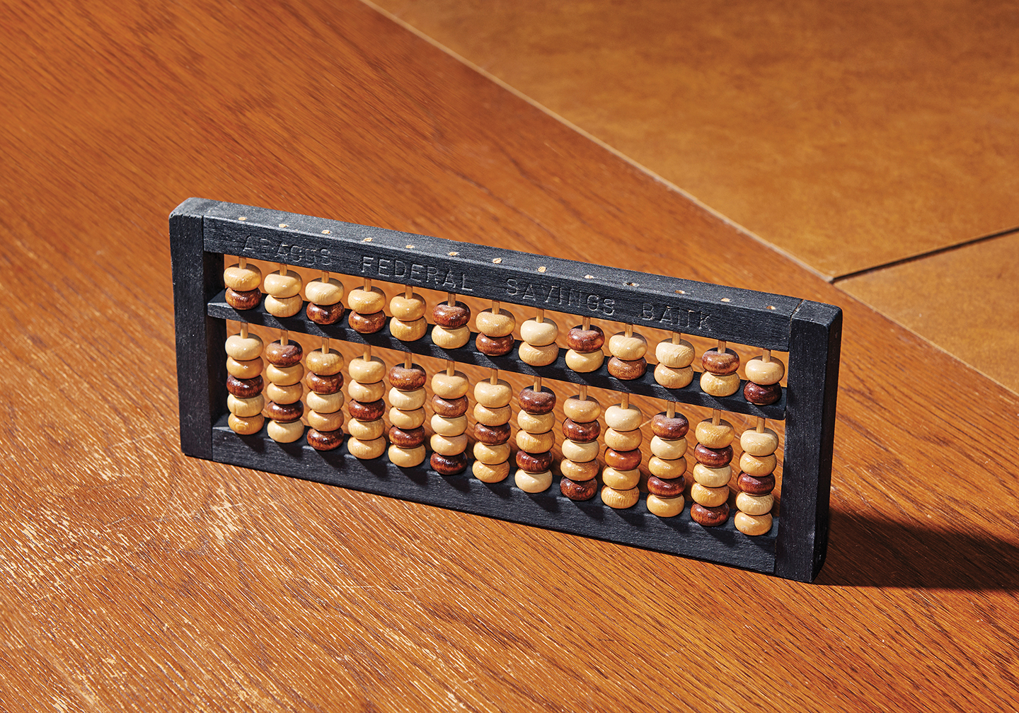 An abacus from the bank's collection.