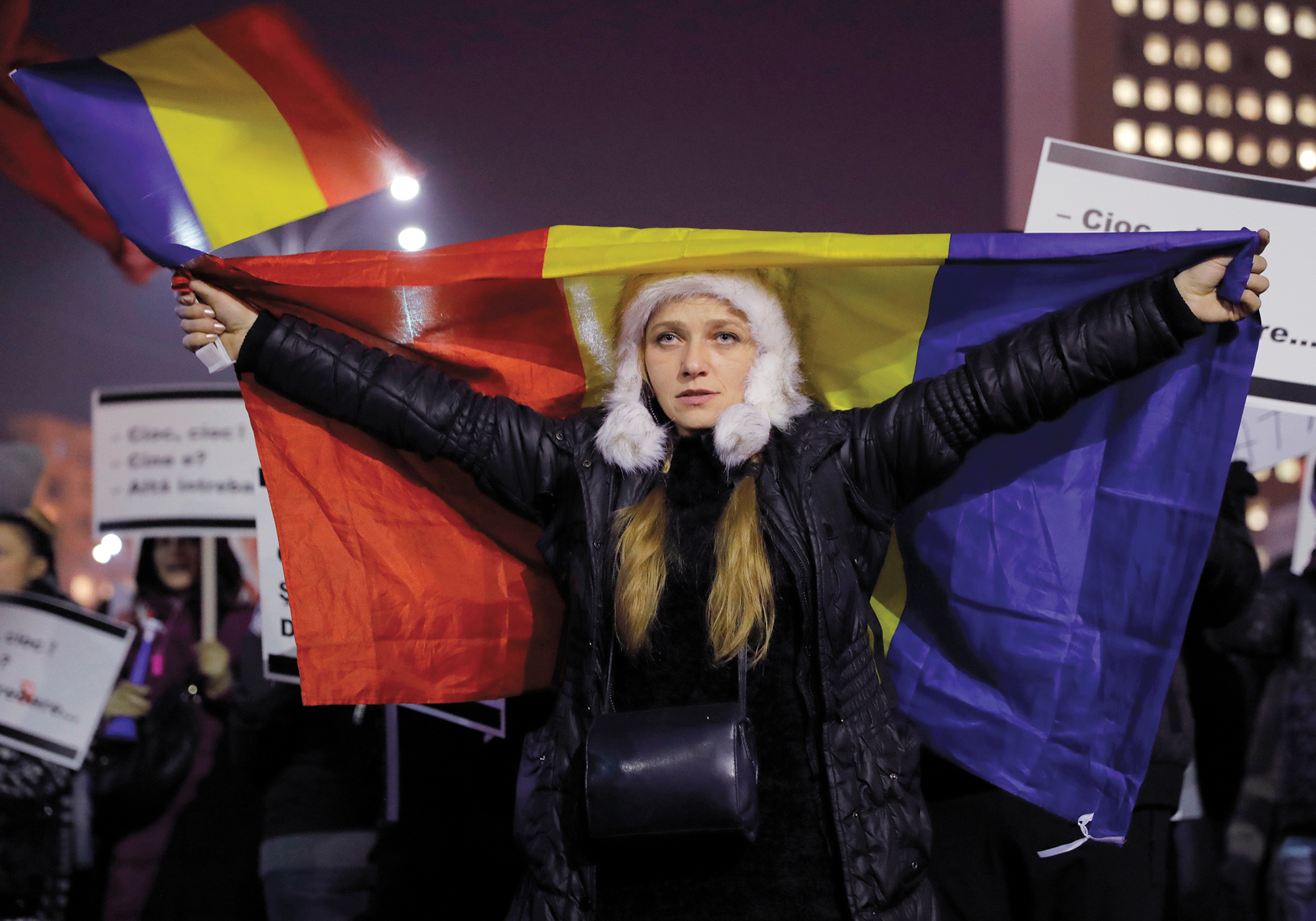 In February, 2017, twenty-eight years after Romanians toppled their dictatorship, protestors took to the streets again in the name of democracy, this time to fight a decree seen as soft on government corruption. AP Photo/Vadim Ghirda