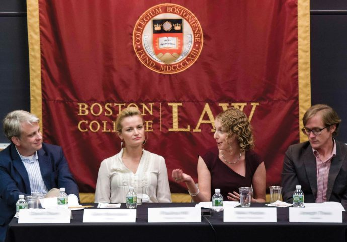 From left, Glen Weinstein, Paulina Hill, Nikki Hadas '97, and Joseph Theis '03