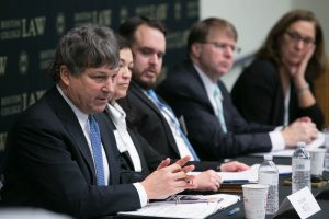 The wrongful convictions panel that Richard Cole attended. Photo: Reba Saldanha