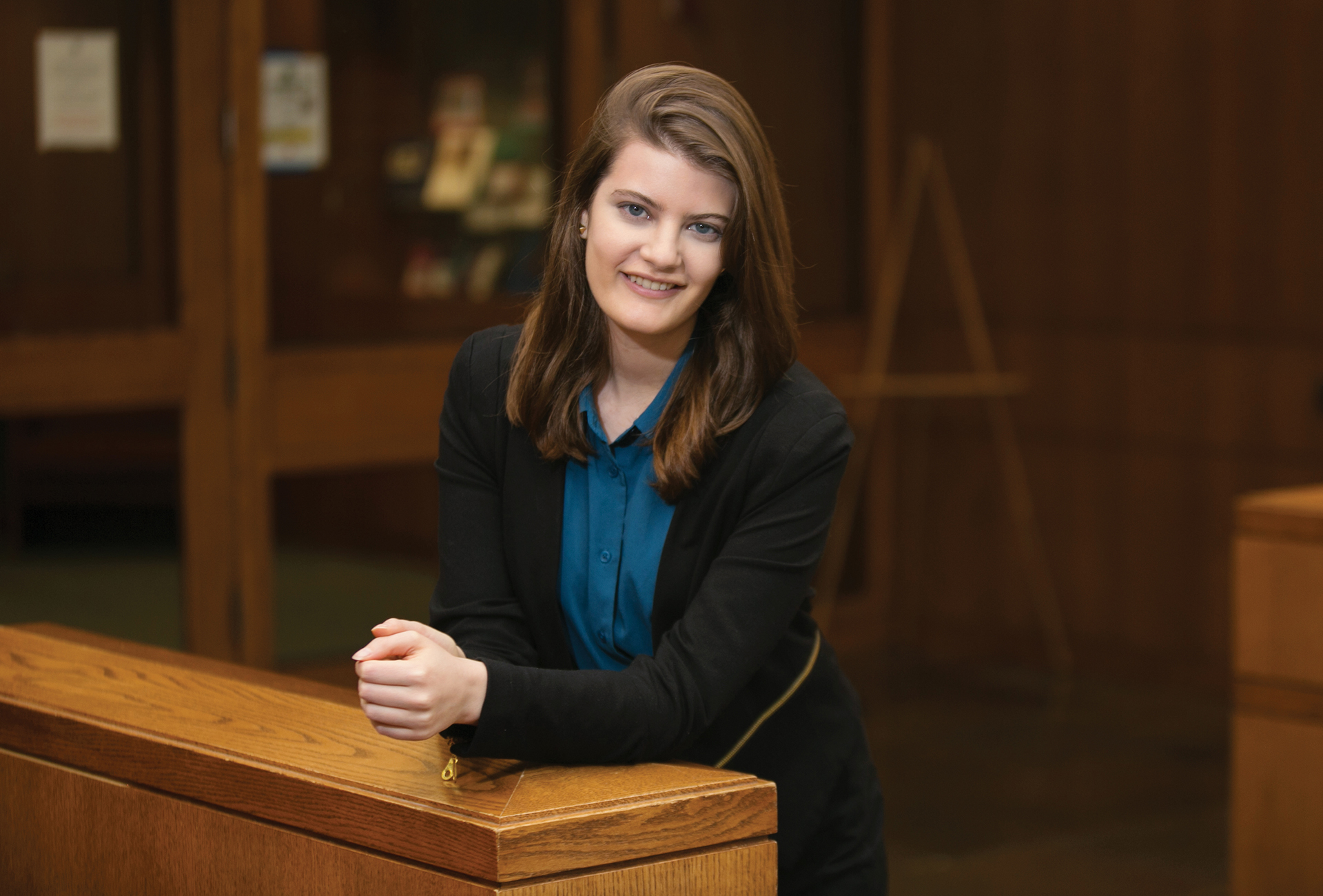 Abigail Rosenfeld '21, the first recipient of the Lawrence A. Adelman '78 Scholarship