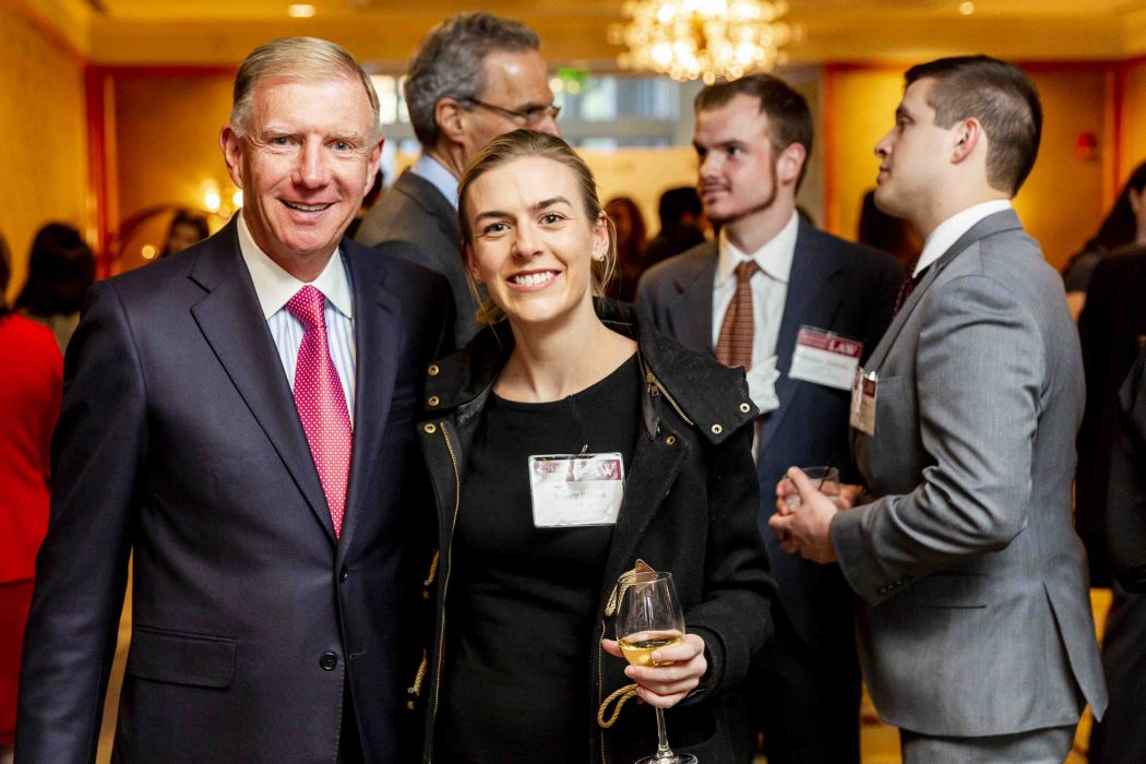 April 4, 2019 -- Boston College Law School's 2019 Law Scholarship Dinner, held at the Mandarin Oriental Hotel in Boston, MA. Photo by Caitlin Cunningham Photography.