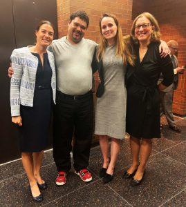 Charlotte Whitmore, Omar Martinez, Lauren Rossman '19, Sharon Beckman