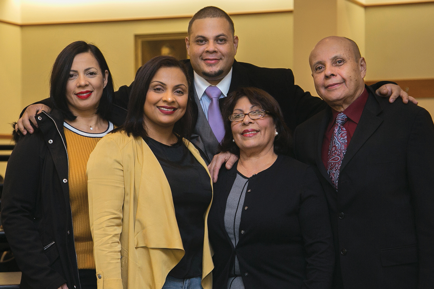 Wilmer García with his family at BC Law.