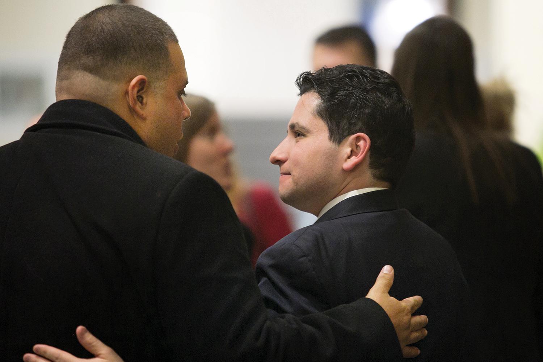 Wilmer García with lawyer Ronaldo Rauseo-Ricupero '07.