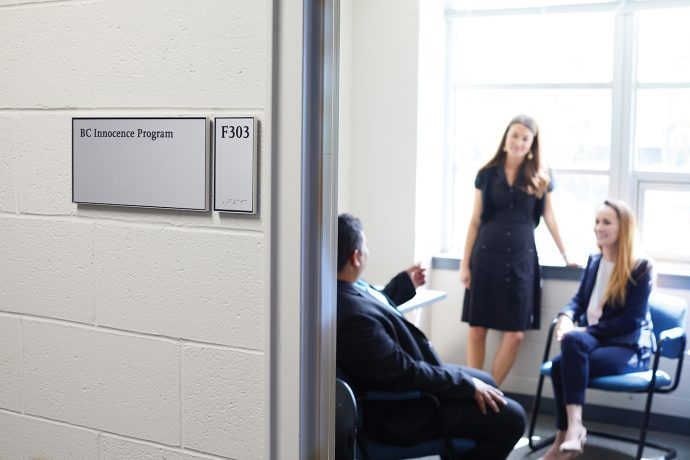 A consult in the program's Law School offices.